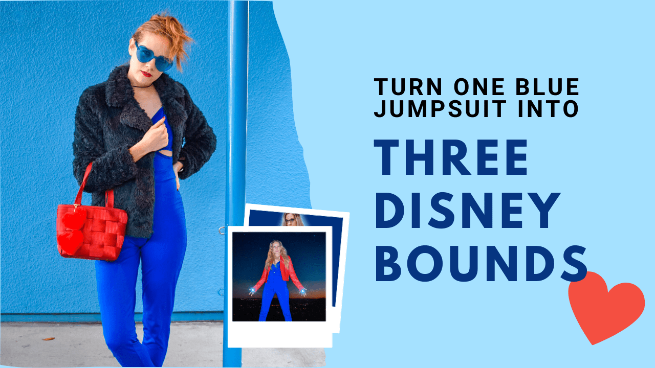 Disney Bounding can be expensive, but not if you are smart about budgeting your wardrobe. This guide will help you style three different Disney characters with just one solid royal blue jumpsuit.